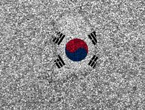 Map and flag of South Korea. Colorful and crisp image of map and flag of South Korea stock image