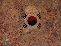 Map and flag of South Korea. Colorful and crisp image of map and flag of South Korea royalty free stock photo