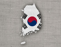 Map and flag of South Korea. Colorful and crisp image of map and flag of South Korea royalty free stock image