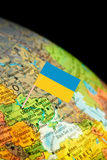 Map with Flag Ukraine Stock Image