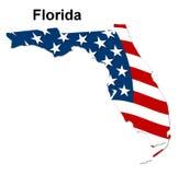 Map of florida Royalty Free Stock Photo