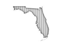 Map of Florida on corrugated iron. Colorful and crisp image of map of Florida on corrugated iron royalty free stock photo