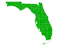 Map of Florida Royalty Free Stock Photo