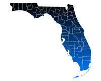 Map of Florida. Detailed and accurate illustration of map of Florida royalty free illustration