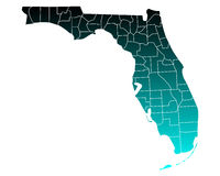 Map of Florida Stock Images