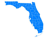 Map of Florida Royalty Free Stock Photos
