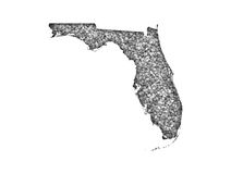 Map of Florida on poppy seeds. Colorful and crisp image of map of Florida on poppy seeds stock photos