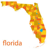 Map of florida, usa Stock Photography