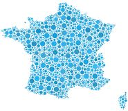 Map of  France Stock Image