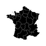 Map of France Stock Images