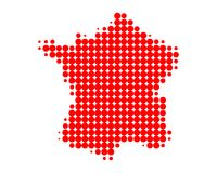Map of France. Detailed and accurate illustration of map of France Royalty Free Stock Photography