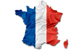 Map of France flag Stock Image