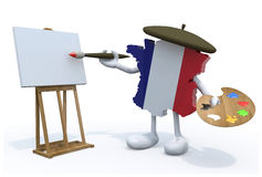 Map of France painter Royalty Free Stock Photo