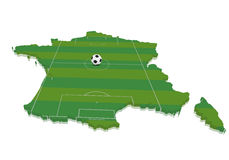 Map France Soccerfield Royalty Free Stock Photos
