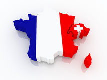 Map of France and Switzerland. Stock Images