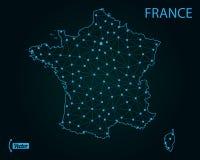 Map of France. Vector illustration. World map stock illustration