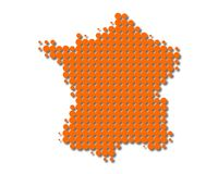Map of France. On white Stock Image