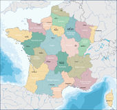 Map of French Republic Royalty Free Stock Image
