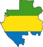 Map Gabon Royalty Free Stock Image