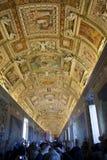 Map Gallery, Vatican Museum, Vatican City Royalty Free Stock Photos