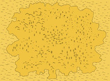 Map Generic. Map island continent simple yellow, vector illustration color cartoon, horizontal Stock Image