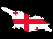 Map of Georgia. And Georgian flag illustration Stock Image