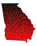 Map of Georgia Stock Photography