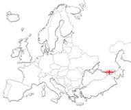 Map of Georgia Royalty Free Stock Photo
