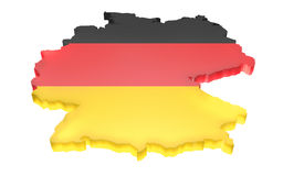 Map the Germany Royalty Free Stock Photos