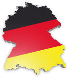 Map of Germany. 3D Map of Germany with flag Stock Illustration