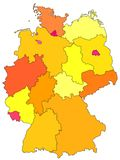 Map of Germany Royalty Free Stock Photos