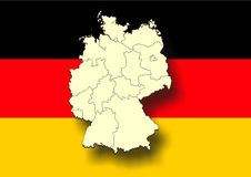 Map of germany Stock Photos
