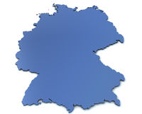 Map of Germany royalty free stock images