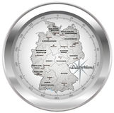 Map of Germany Stock Photography
