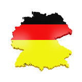 Map of Germany. Isolated on white background. 3D render royalty free illustration
