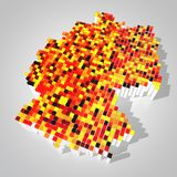 Map of germany. Made out of cubes Royalty Free Stock Photo