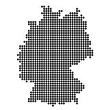 The Map Of Germany. Silhouette of Germany is made of round dots. Original abstract vector illustration Stock Images