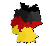 Map of Germany with regions Royalty Free Stock Image