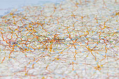 Map of Germany, Shallow focus. Royalty Free Stock Photos