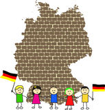 Map of Germany. Vector illustration Royalty Free Stock Photos