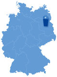 Map of Germany where Berlin is pulled out Stock Image