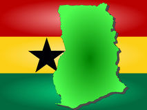 Map of Ghana Royalty Free Stock Photos