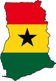 Map Ghana Royalty Free Stock Photo