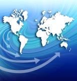 Map global business communication. Raster illustration map global business communication vector illustration