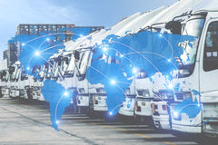 Map global logistics partnership connection of Container Cargo f Royalty Free Stock Images