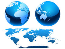 Map and a globe. Stock Photos