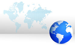 Map and globe illustration design Royalty Free Stock Image