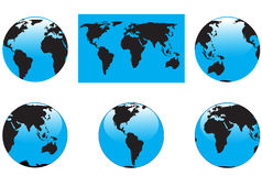 Map and globes Stock Photos