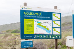 Map of the Goukamma Nature Reserve Stock Images