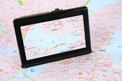 Map and gps Stock Photos